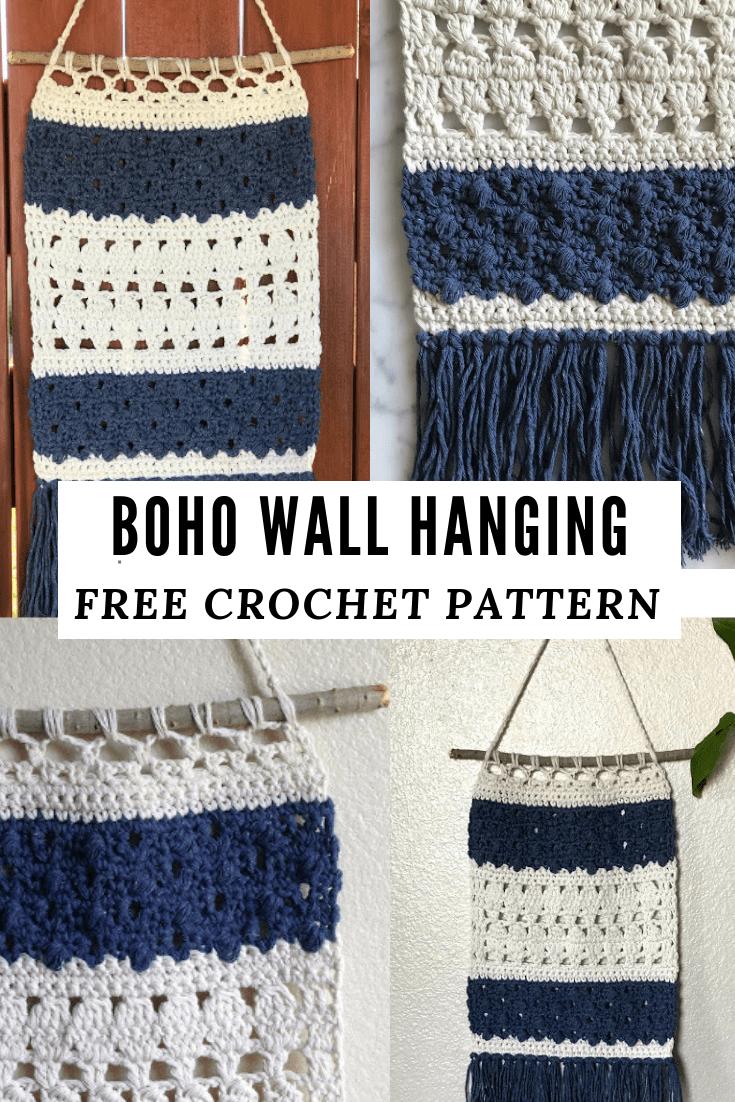 Boho Wall Hanging Free Crochet Pattern